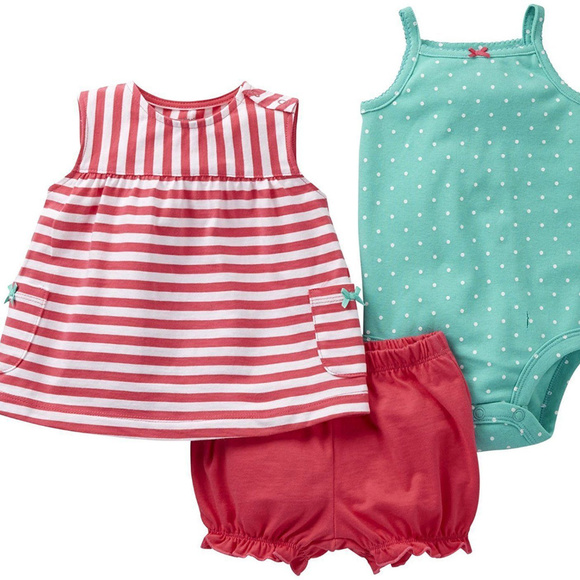 55f159de6ffb6 Carters Baby Girl Summer Clothes 6 Months Outfit NWT